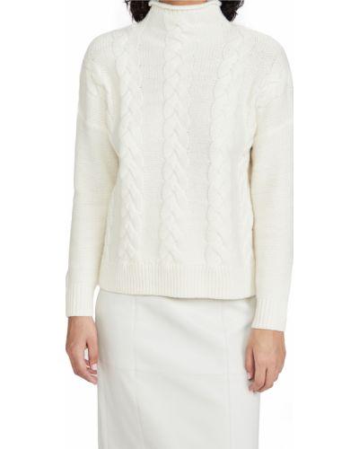 Бежевый шерстяной длинный свитер с длинными рукавами Madewell