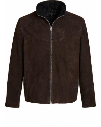 Brązowa długa kurtka skórzana z długimi rękawami Rag & Bone