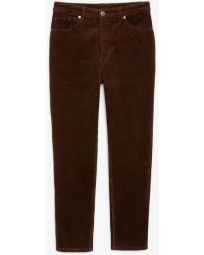 Коричневые брюки с карманами Monki