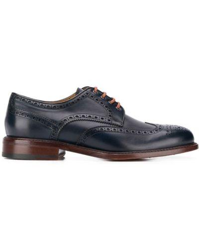 Дерби синий с тиснением Berwick Shoes