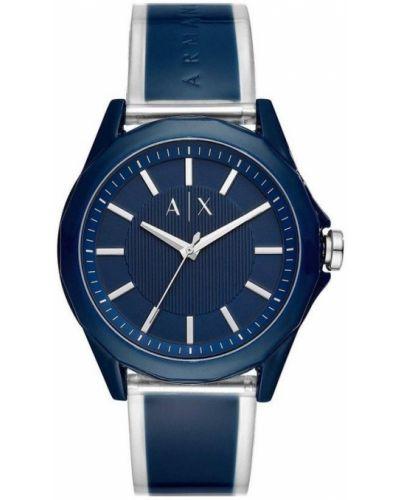 Niebieski zegarek srebrny Armani Exchange