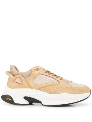 Beżowe sneakersy koronkowe Buscemi