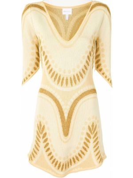 Платье мини с V-образным вырезом прямое Alice Mccall