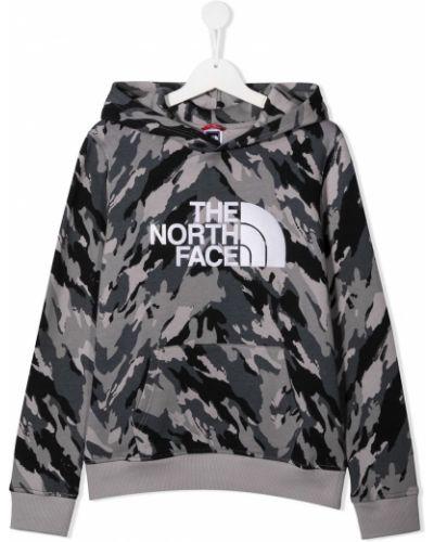 Приталенная классическая черная толстовка с капюшоном The North Face Kids