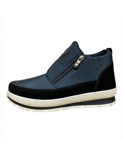 Ботинки из искусственного меха - синие Bromen