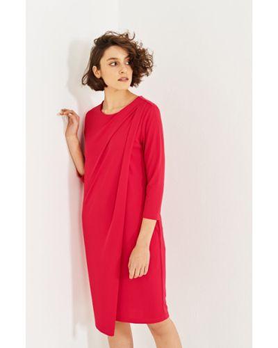 Платье мини однотонное со складками Simple