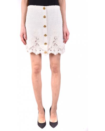Biała spódnica elegancka Elisabetta Franchi