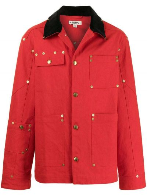 Długa kurtka sztruksowa z haftem z długimi rękawami Phipps
