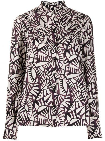 Хлопковая рубашка с манжетами на пуговицах с длинными рукавами Ba&sh