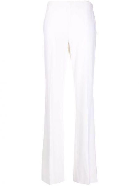 Прямые с завышенной талией белые брюки Ralph Lauren