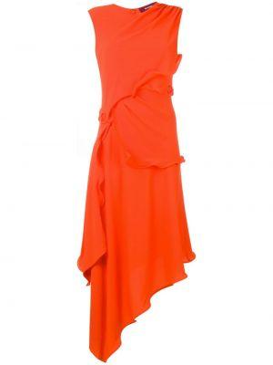 Шелковое платье - оранжевое Sies Marjan