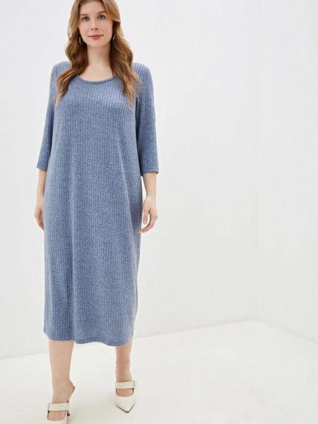 Синее повседневное платье Gorda Bella