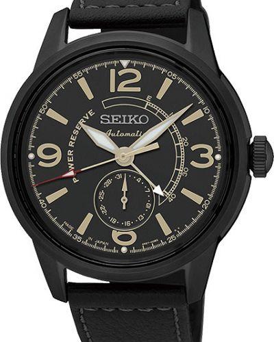 Часы водонепроницаемые механические с кожаным ремешком Seiko