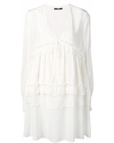 Платье мини с V-образным вырезом с длинными рукавами Sly010