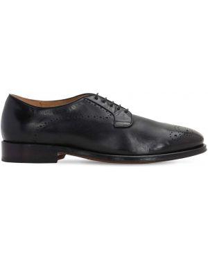 Кожаные туфли на каблуке на шнурках Alberto Fasciani