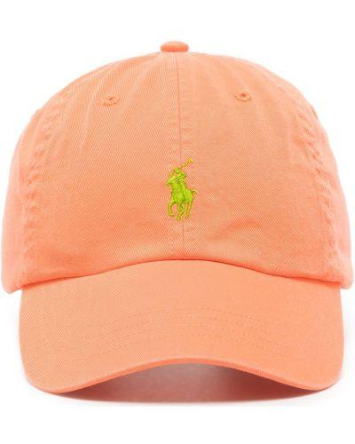 Оранжевая бейсбольная бейсболка с вышивкой Polo Ralph Lauren