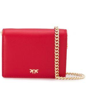 Красная сумка на цепочке Pinko