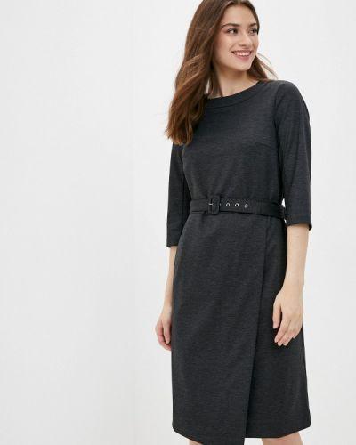 Свободное серое расклешенное платье Finn Flare