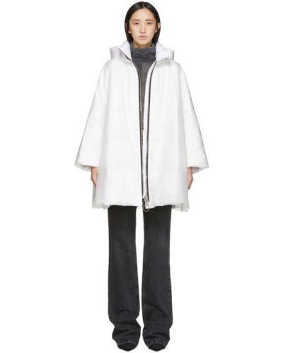 Дождевик с карманами белый Ienki Ienki