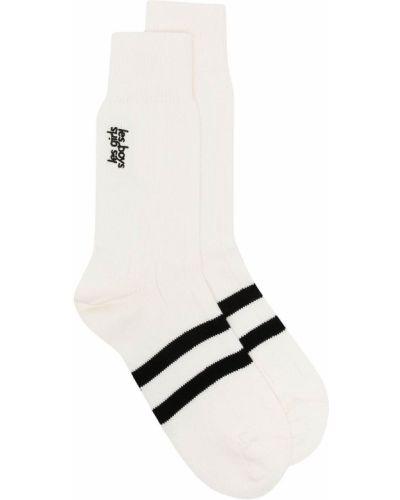 Белые хлопковые носки с вышивкой Les Girls, Les Boys