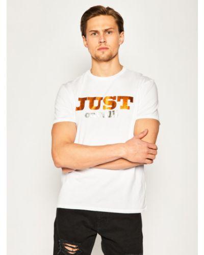 Biała t-shirt Just Cavalli
