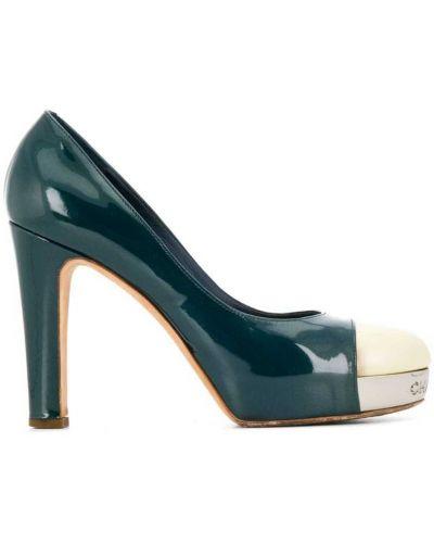Туфли на каблуке на высоком каблуке на платформе Chanel Vintage