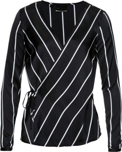 Блузка с длинным рукавом с запахом с поясом Bonprix