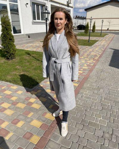 Шерстяное пальто - серое Albanto