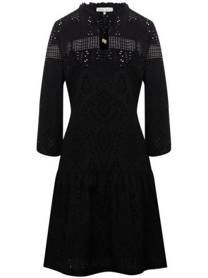 Туника с вышивкой - черная Heidi Klein