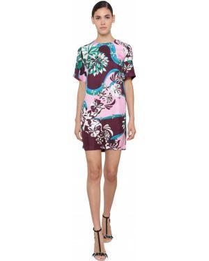 Платье мини на пуговицах шелковое Emilio Pucci