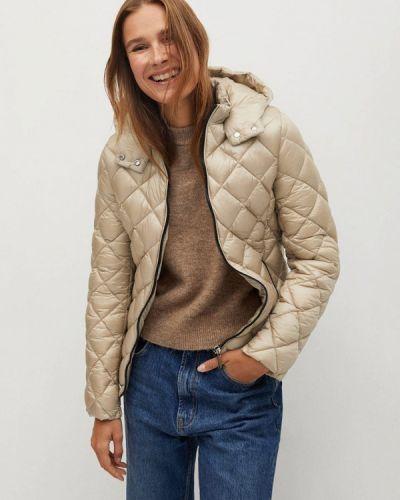 Утепленная бежевая куртка Mango