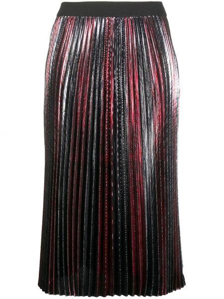 Плиссированная красная юбка миди Zadig&voltaire