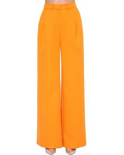 Pomarańczowe spodnie z wysokim stanem wełniane Annakiki