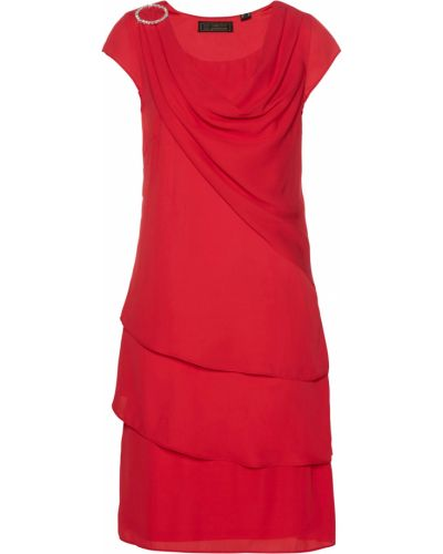 Красное шифоновое платье Bonprix