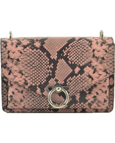 Różowa wężowa torebka Rebecca Minkoff