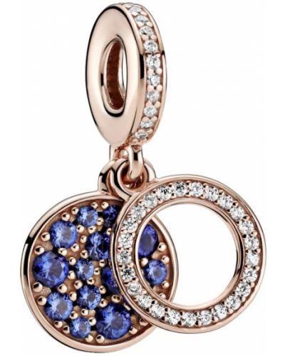 Медальон золотой позолоченный с подвесками Pandora