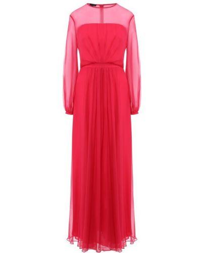 Платье розовое шелковое Escada