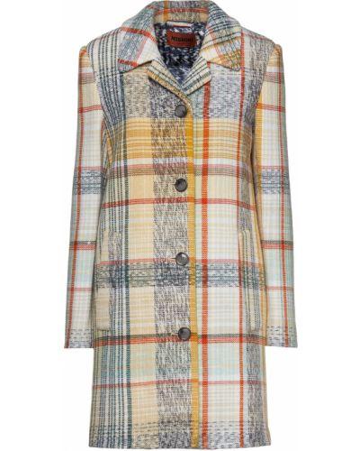 Шерстяное пальто с карманами мятное Missoni