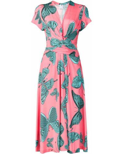 Платье мини розовое миди Ultràchic
