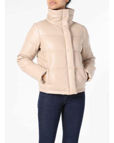Кожаная куртка - бежевая Colin's