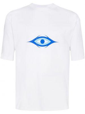 Biała T-shirt z nadrukiem bawełniana Gmbh