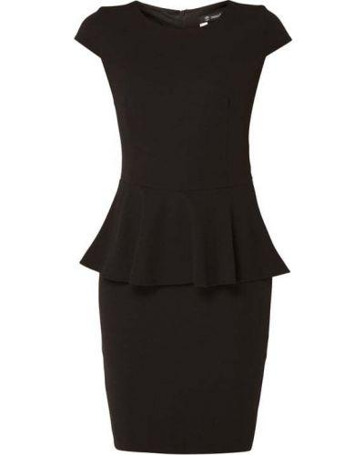 Czarna sukienka koktajlowa krótki rękaw Paradi