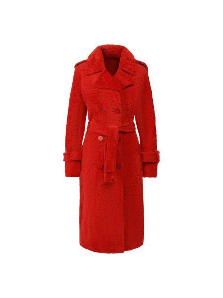 Пальто пальто-тренч с мехом Drome
