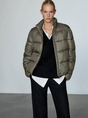 Утепленная куртка хаки Massimo Dutti