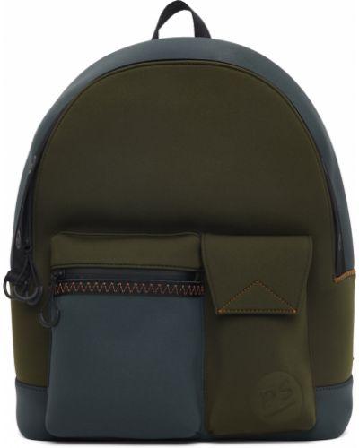 Czarny plecak skórzany z siateczką Ps By Paul Smith