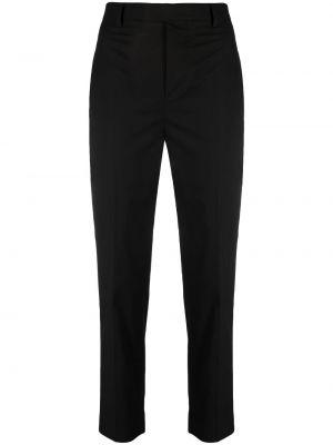 Czarne spodnie z paskiem bawełniane Rick Owens