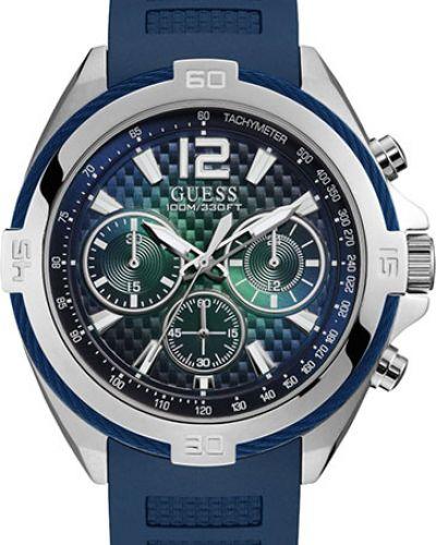 Часы водонепроницаемые силиконовые синий Guess