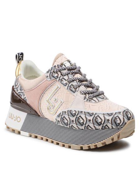 Sneakersy - beżowe Liu Jo