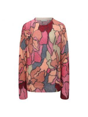 Трикотажный пуловер - розовый Dries Van Noten