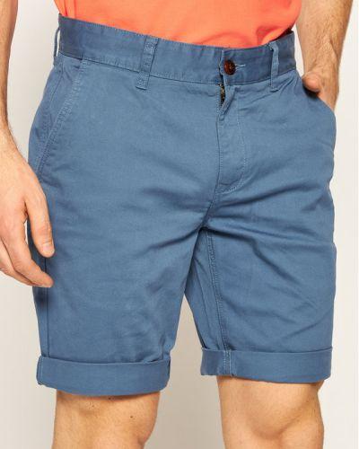 Niebieskie szorty jeansowe materiałowe Tommy Jeans